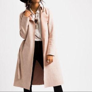 Jackets & Blazers - BLUSH PINK TRENCH COAT